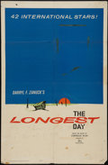 "Movie Posters:War, The Longest Day (20th Century Fox, 1962 & R-1969) Advance OneSheet and One Sheet (2) (27"" X 41""). War.. ... (Total: 2 Items)"