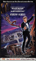 """Movie Posters:James Bond, A View to a Kill (United Artists, 1985). Concession Poster (13"""" X 22""""). James Bond.. ..."""