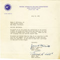 """Autographs:Celebrities, Edward H. White II and James A McDivitt Typed Letter Signed""""James A. McDivitt"""", """"Edward H. White II"""", oneclipped p... (Total: 1 Item)"""