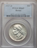 Commemorative Silver: , 1937-D 50C Boone MS65 PCGS. PCGS Population (273/194). NGC Census:(214/137). Mintage: 2,506. Numismedia Wsl. Price for pro...