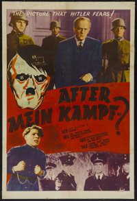 "After Mein Kampf? (Crystal Pictures, 1940). One Sheet (27"" X 41""). War Documentary. Starring Robert Beatty, He..."