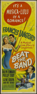 """Movie Posters:Musical, Beat the Band (RKO, 1947). Insert (14"""" X 36""""). Musical. Starring Frances Langford, Ralph Edwards, Phillip Terry, Gene Krupa,..."""