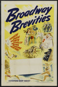 "Movie Posters:Documentary, Broadway Brevities Stock Poster (Vitagraph, 1936). One Sheet (27"" X41""). Documentary. Starring Phil Harris, Leah Ray, Harry..."