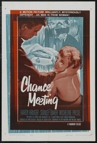 "Chance Meeting (Paramount, 1960). One Sheet (27"" X 41""). Mystery. Starring Hardy Krüger, Stanley Baker, M..."