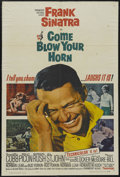"Movie Posters:Comedy, Come Blow Your Horn (Paramount, 1963). One Sheet (27"" X 41""). Comedy. Starring Frank Sinatra, Lee J. Cobb, Molly Picon, Barb..."