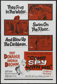 """Come Spy with Me (20th Century Fox, 1967). One Sheet (27"""" X 41""""). Action. Starring Troy Donahue, Andrea Dromm..."""