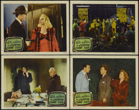"The Corpse Came C.O.D. (Columbia, 1947). Lobby Cards (4) (11"" X 14""). Comedy Mystery. Starring George Brent, J..."