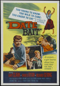 "Movie Posters:Bad Girl, Date Bait (Film Group, Inc., 1960). One Sheet (27"" X 41""). TeenExploitation. Starring Gary Clarke, Marlo Ryan, Richard Geri..."