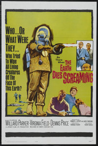 "The Earth Dies Screaming (20th Century Fox, 1964). One Sheet (27"" X 41""). Horror. Starring Willard Parker, Vir..."