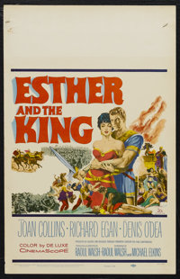 """Esther and the King (20th Century Fox, 1960). Window Card (14"""" X 22""""). Biblical Drama. Starring Joan Collins..."""