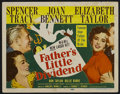 """Movie Posters:Comedy, Father's Little Dividend (MGM, 1951). Title Lobby Card (11"""" X 14""""). Romantic Comedy. Starring Spencer Tracy, Joan Bennett, E..."""