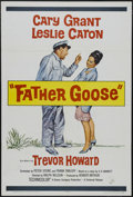 "Movie Posters:Comedy, Father Goose (Universal, 1965). One Sheet (27"" X 41""). AdventureComedy. Starring Cary Grant, Leslie Caron, Trevor Howard, J..."