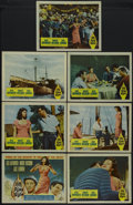 "Movie Posters:Adventure, Fire Down Below (Columbia, 1957). Title Lobby Card (11"" X 14"") andLobby Cards (6) (11"" X 14""). Adventure. Starring Rita Hay...(Total: 7)"