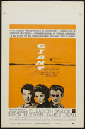 """Movie Posters:Drama, Giant (Warner Brothers, R-1963). Window Card (14"""" X 22""""). Drama. Starring Elizabeth Taylor, Rock Hudson and James Dean. Dire..."""
