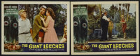 "The Giant Leeches (AIP, 1959). Lobby Cards (2) (11"" X 14""). Sci-Fi. Starring Ken Clark, Yvette Vickers, Jan Sh..."