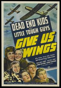 "Give Us Wings (Universal, 1940). One Sheet (27"" X 41""). Comedy/Drama. Starring the Dead End Kids, Wallace Ford..."