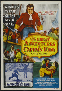 """The Great Adventures of Captain Kidd (Columbia, 1956). One Sheet (27"""" X 41"""") Chapter 15 -- """"Captain Kidd'..."""