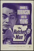 """Movie Posters:Crime, The Hatchet Man (Warner Brothers, R-1949). One Sheet (27"""" X 41""""). Crime Drama. Starring Edward G. Robinson, Loretta Young, D..."""
