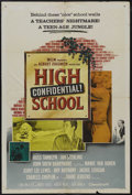 "Movie Posters:Action, High School Confidential (MGM, 1958). One Sheet (27"" X 41""). Teenexploitation at its best! Russ Tamblyn, Mamie Van Doren an..."