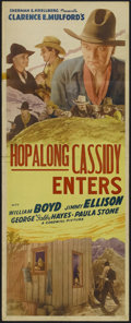 "Movie Posters:Western, Hop-a-long Cassidy (Screen Guild Productions, R-1946). Insert (14"" X 36""). Re-released as ""Hopalong Cassidy Enters."" Western..."