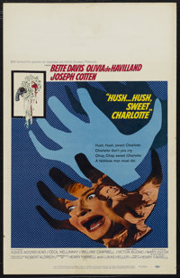 "Hush...Hush, Sweet Charlotte (20th Century Fox, 1964). Window Card (14"" X 22""). Thriller. Starring Bette Davis..."