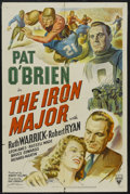 "Movie Posters:Sports, The Iron Major (RKO, 1943). One Sheet (27"" X 41""). Biography.Starring Pat O'Brien, Ruth Warrick, Robert Ryan and Harry Tyle..."