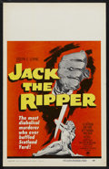 "Movie Posters:Mystery, Jack the Ripper (Paramount, 1960). Window Card (14"" X 22"").Mystery. Starring Lee Patterson, Eddie Byrne, Betty McDowall and..."