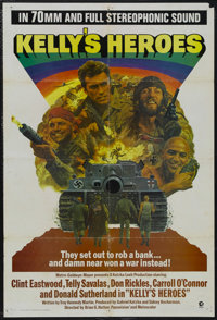 """Kelly's Heroes (MGM, 1970). Roadshow One Sheet (27"""" X 41""""). War. Starring Clint Eastwood, Telly Savalas, Don R..."""