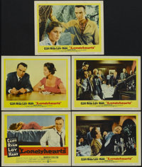 """Lonelyhearts (United Artists, 1959). Title Card (11"""" X 14"""") and Lobby Cards (4) (11"""" X 14""""). Drama..."""