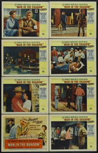 "Man in the Shadow (Universal, 1958). Lobby Card Set of 8 (11"" X 14""). Drama. Starring Jeff Chandler, Orson Wel..."