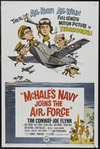 "McHale's Navy Joins the Air Force (Universal, 1965). One Sheet (27"" X 41""). Comedy. Starring Joe Flynn, Tim Co..."