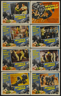 """Missile to the Moon (Astor, 1958). Lobby Card Set of 8 (11"""" X 14""""). Science Fiction. Starring Richard Travis..."""
