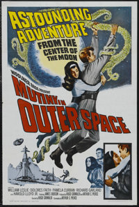"Mutiny in Outer Space (Woolner Brothers, 1964). One Sheet (27"" X 41""). Science Fiction. Starring William Lesli..."
