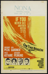 """On the Beach (United Artists, 1959). Window Card (14"""" X 22""""). Science Fiction. Starring Gregory Peck, Ava Gard..."""