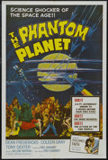 "Movie Posters:Science Fiction, The Phantom Planet (AIP, 1962). One Sheet (27"" X 41""). ScienceFiction. Starring Dean Fredericks, Coleen Gray, Anthony Dexte..."