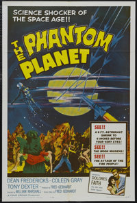 """The Phantom Planet (AIP, 1962). One Sheet (27"""" X 41""""). Science Fiction. Starring Dean Fredericks, Coleen Gray..."""