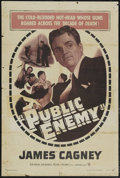 """Movie Posters:Crime, The Public Enemy (Warner Brothers, R-1954). One Sheet (27"""" X 41""""). Crime. Starring James Cagney, Jean Harlow, Joan Blondell,..."""