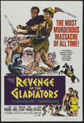 "Movie Posters:Adventure, Revenge of the Gladiators (Paramount, 1965). One Sheet (27"" X 41"").Adventure. Starring Roger Browne, Scilla Gabel, Giacomo ..."