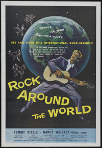 """Rock Around the World (AIP, 1957). One Sheet (27"""" X 41""""). Musical. Starring Tommy Steele, Patrick Westwood, To..."""