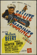 """Movie Posters:War, Salute to the Marines (MGM, 1943). One Sheet (27"""" X 41"""") Style C.War. Starring Wallace Beery, Fay Bainter, Reginald Owen, R..."""