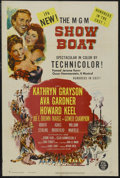 "Movie Posters:Musical, Show Boat (MGM, 1951). One Sheet (27"" X 41""). Musical Romance.Starring Kathryn Grayson, Ava Gardner, Howard Keel, Joe E. Br..."