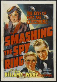 "Smashing the Spy Ring (Columbia, 1939). One Sheet (27"" X 41""). Drama. Starring Ralph Bellamy, Fay Wray, Regis..."