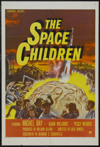 """The Space Children (Paramount, 1958). One Sheet (27"""" X 41""""). Science Fiction. Starring Michel Ray, Adam Willia..."""