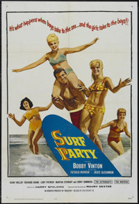 """Surf Party (20th Century Fox, 1964). One Sheet (27"""" X 41""""). Musical Comedy. Starring Bobby Vinton, Patricia Mo..."""