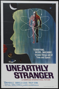 "Unearthly Stranger (AIP, 1963). One Sheet (27"" X 41""). Science Fiction. Starring John Neville, Gabriella Licud..."