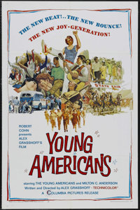 "Young Americans (Columbia, 1967). One Sheet (27"" X 41""). Documentary. Starring Diane Adams, Phil Aubry, Nancy..."