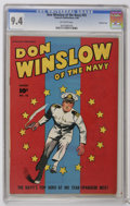 Golden Age (1938-1955):War, Don Winslow of the Navy #55 Crowley Copy pedigree (Fawcett, 1948)CGC NM 9.4 Off-white pages. Overstreet 2006 NM- 9.2 value ...