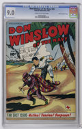 Golden Age (1938-1955):War, Don Winslow of the Navy #56 Crowley Copy/File Copy (Fawcett, 1948)CGC VF/NM 9.0 Cream to off-white pages. The cover bears a...