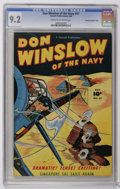 """Golden Age (1938-1955):War, Don Winslow of the Navy #57 Crowley Copy pedigree (Fawcett, 1948)CGC NM- 9.2 Cream to off-white pages. Cover bears a """"check..."""