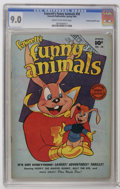 Golden Age (1938-1955):Funny Animal, Fawcett's Funny Animals #58 Crowley Copy/File Copy (Fawcett, 1948)CGC VF/NM 9.0 Cream to off-white pages. Hoppy the Captain...